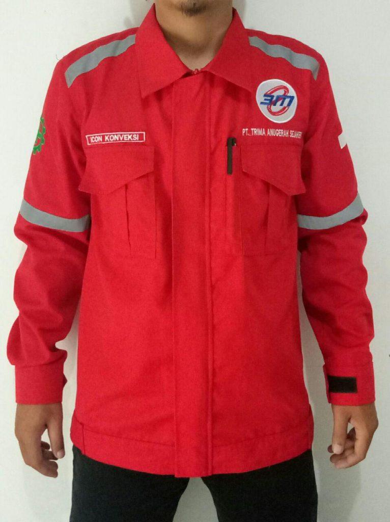 pesan seragam kerja lapangan safety