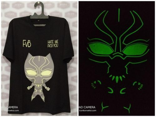 pesan kaos glow in the dark